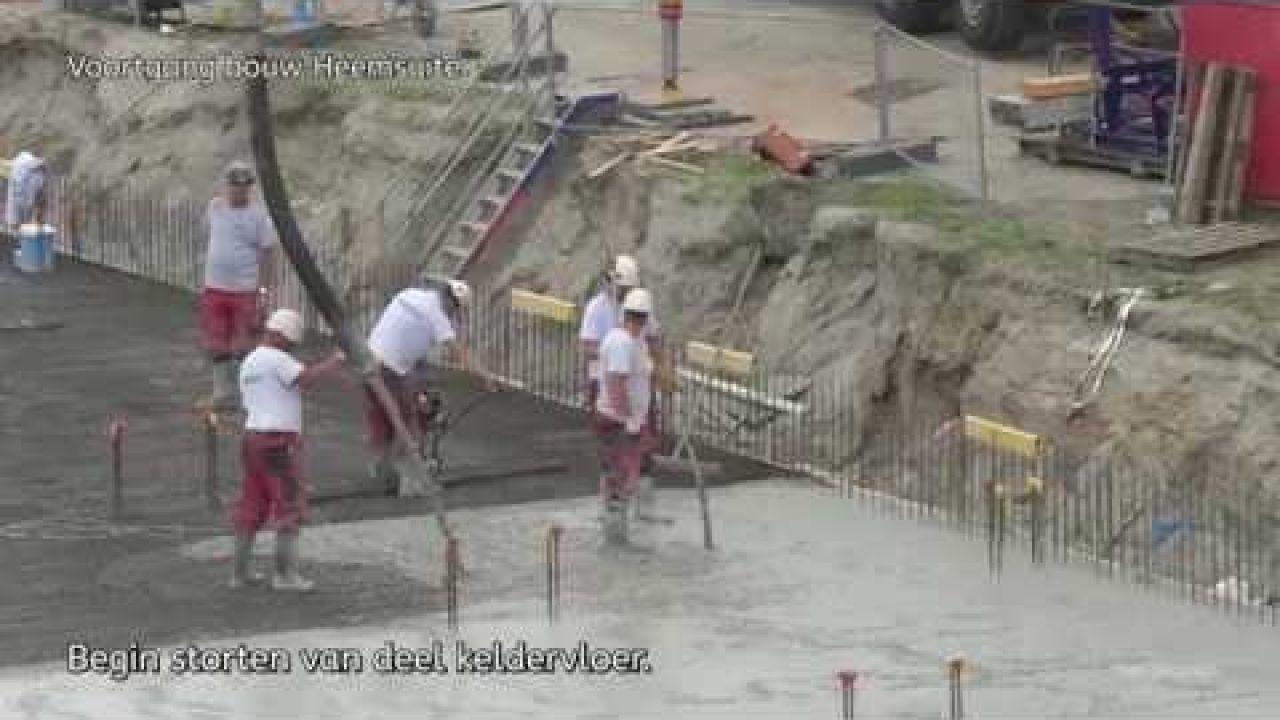 Voortgang bouw Heemsuite aan de  bachstraat.  5/10